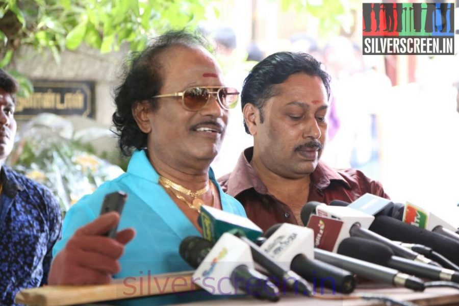 Music Director Sankar Ganesh and Director Rajakumaran at Director Ramanarayanan's Funeral