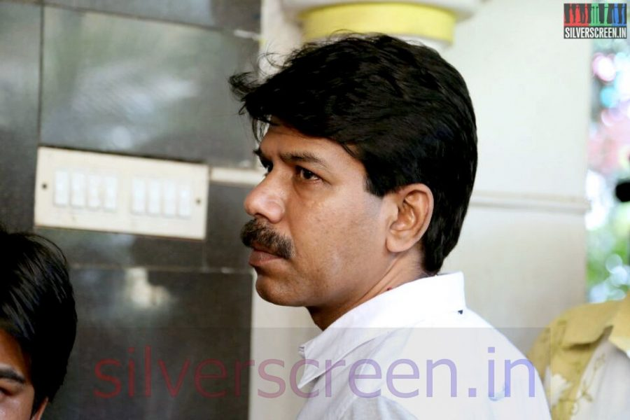 Director Bala at Director Ramanarayanan's Funeral