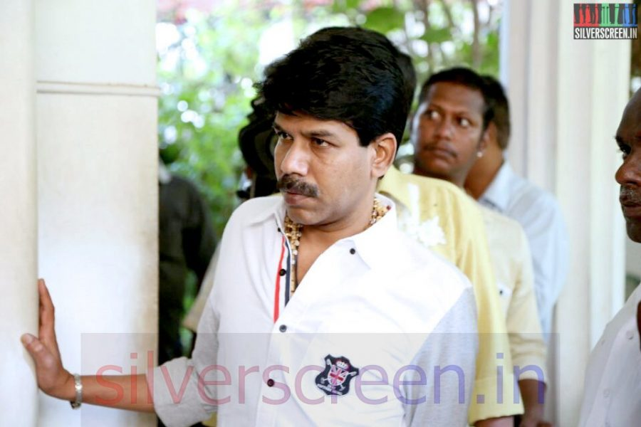 Director Bala at Director Ramanarayanan's Funeral