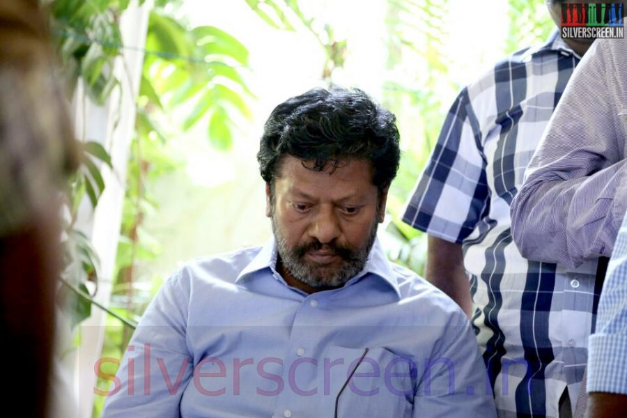 Actor Rajkiran at Director Ramanarayanan's Funeral