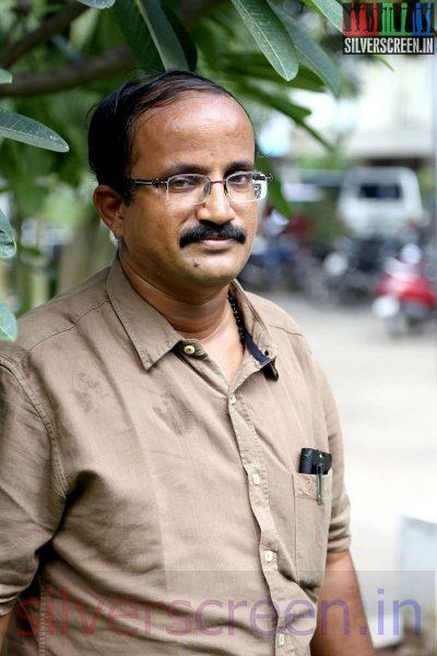 Dialogue Writer K Rajaraman at the Sarabham Press Meet