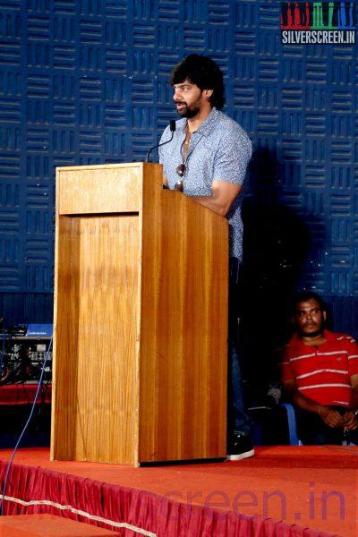 Actor Naveen Chandra at the Sarabham Press Meet