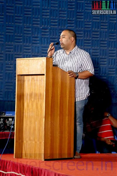 Producer CV Kumar at the Sarabham Press Meet