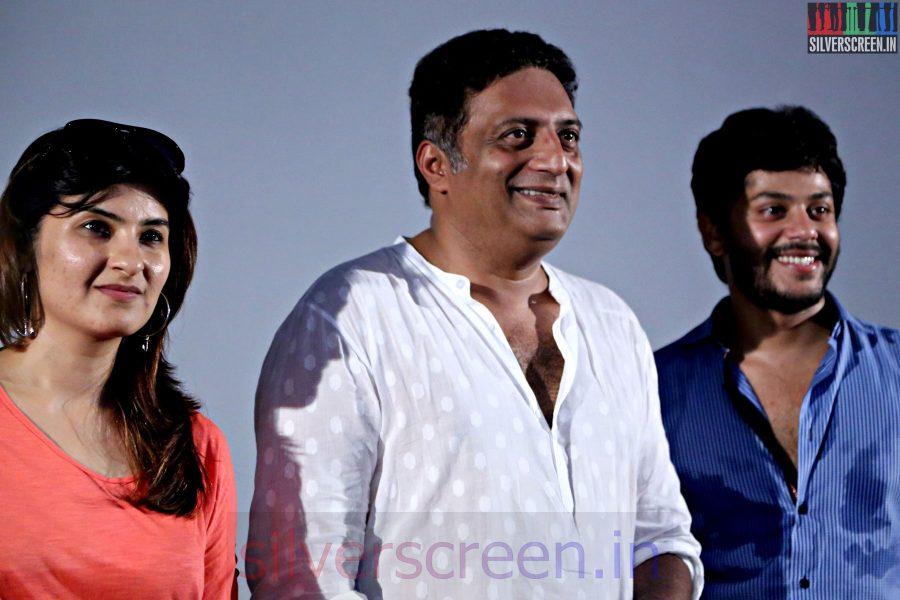 Actor Prakash Raj, Pony Verma, Tejas at the Un Samayal Arayil Press Meet