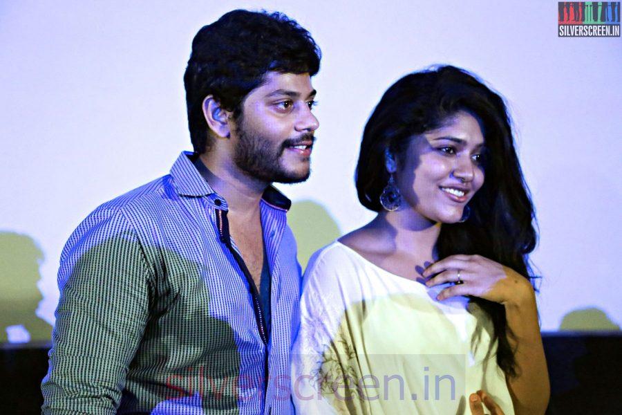 Actress Samyuktha Hornad and Tejas at the Un Samayal Arayil Press Meet