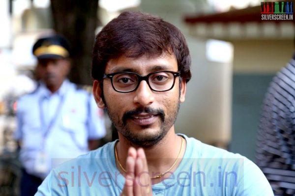 RJ Balaji at Vadacurry Movie Press Show