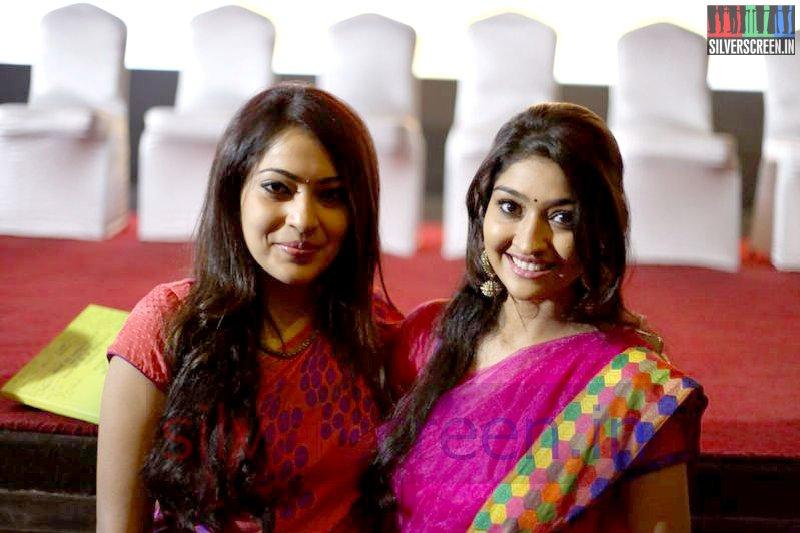 Actress Neelima Esai and VJ Ramya at Valeba Raja (Or Vaaliba Raja) Audio Launch
