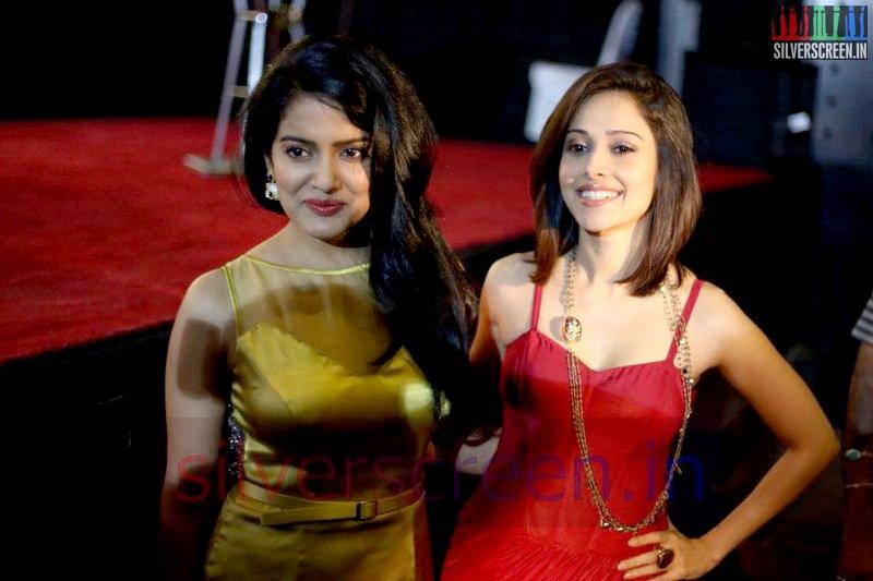 Actress Vishakha Singh and Nushrat Bharucha at Valeba Raja (Or Vaaliba Raja) Audio Launch