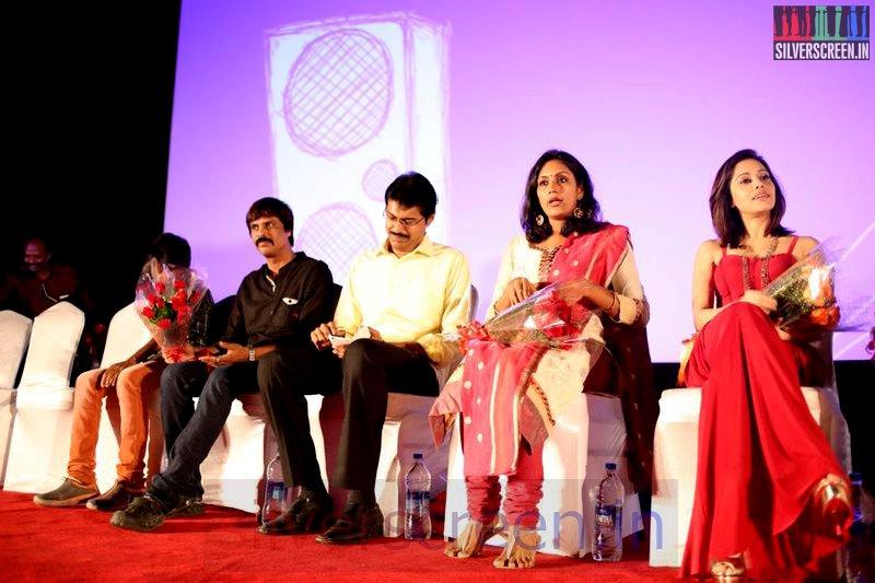 Director Sai Gokul Ramnath, Actress Devadarshini, Actor Subbu Panchu at Valeba Raja (Or Vaaliba Raja) Audio Launch