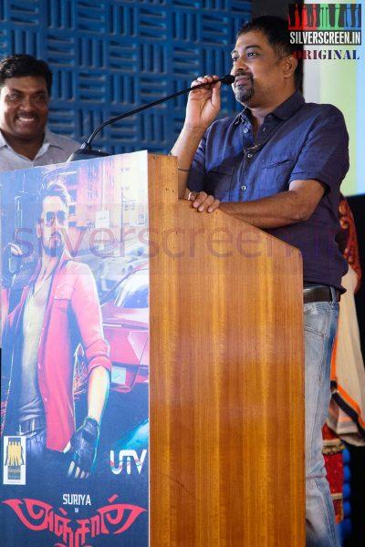Director N Lingusamy at Anjaan Race Wars Game Launch Stills