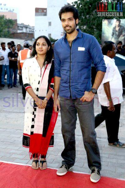 Actor Sibiraj at the Arima Nambi Movie Premiere
