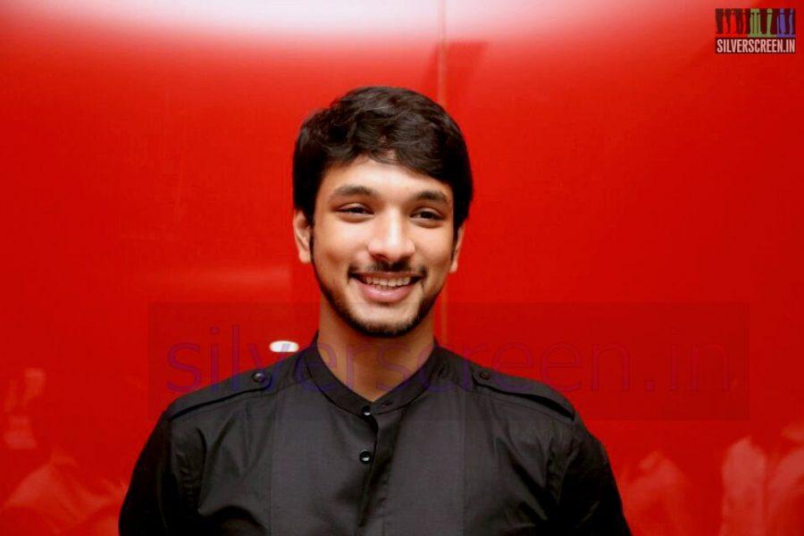 Actor Gautham Karthik at the Arima Nambi Movie Premiere