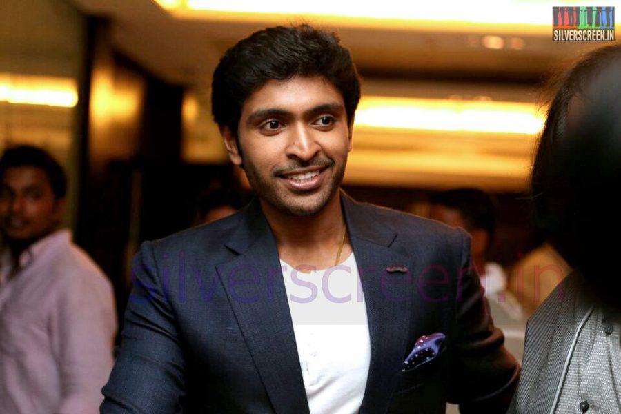 Actor Vikram Prabhu at the Arima Nambi Movie Premiere
