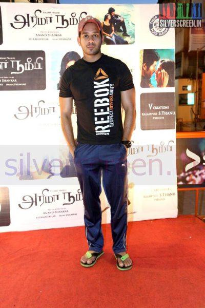 Actor Bharath at the Arima Nambi Movie Premiere