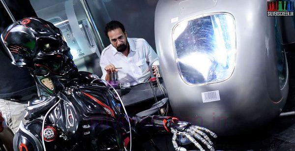 Art Director Sabu Cyril on the sets of Endhiran (Enthiran) the Robo