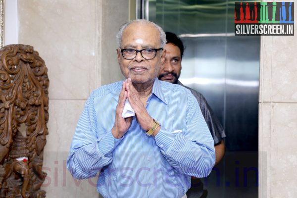 Director K Balachander at the launch of Sketchbook Productions