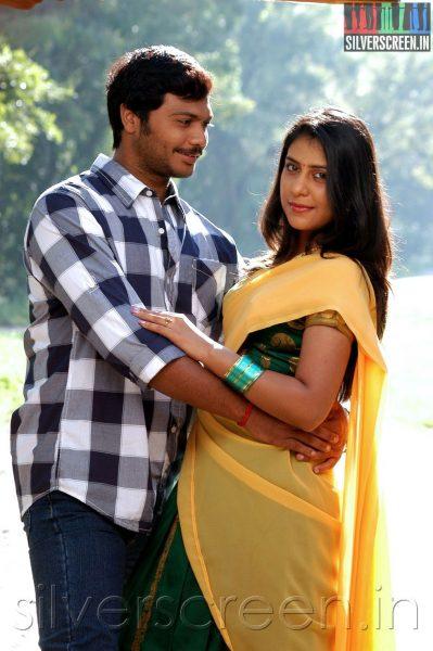 Actor Kevin and Actress Preethi Vij in Enna Pidichirukka Movie Stills