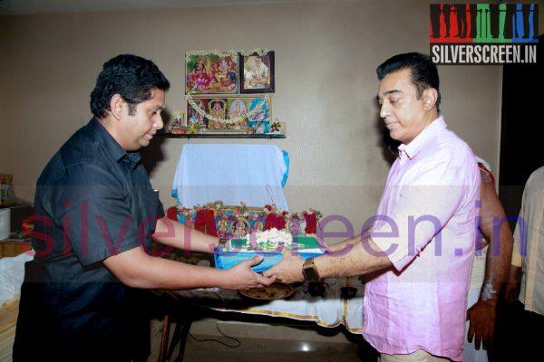 Actor Kamal Haasan at Drishyam Remake Pooja Function