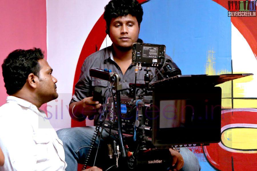 Cinematographer Dinesh Krishnan at Kappal Shooting Spot