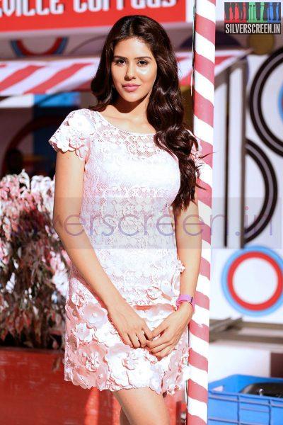 Actress Sonam Bajwa at Kappal Shooting Spot