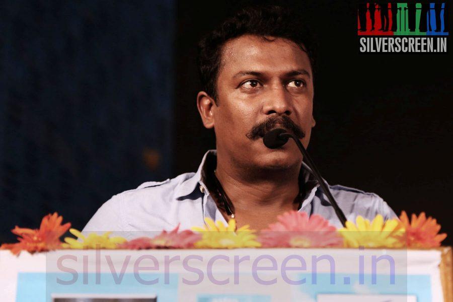 Director Samuthirakani at Maindhan (Or Mainthan) Movie Audio Launch