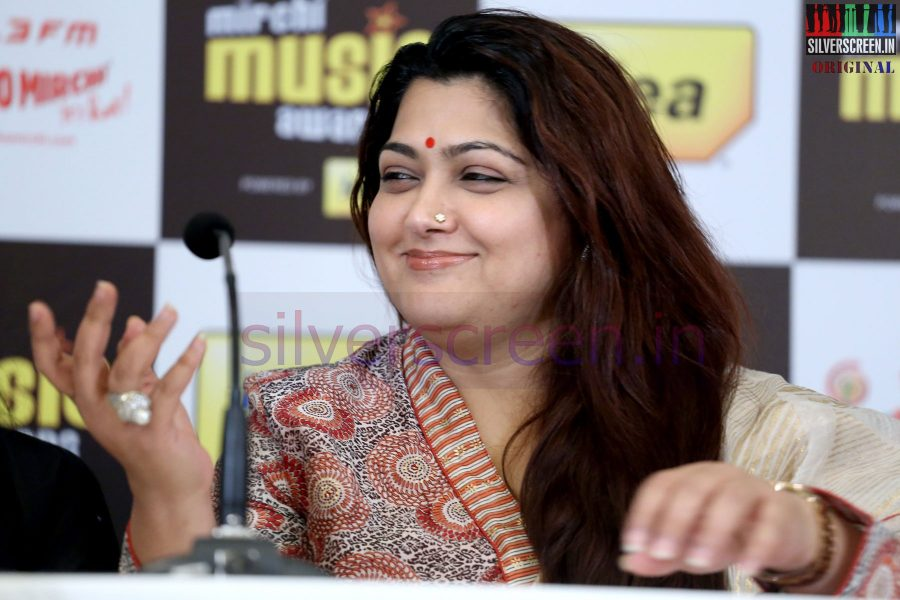 Actress Kushboo at Mirchi Music Awards 2013 - Grand Jury Meet Event