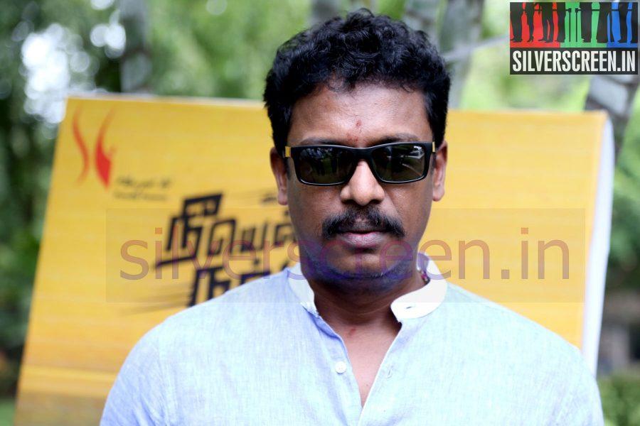 Director Samuthirakani at Nee Yellam Nalla Varuvada Press Meet
