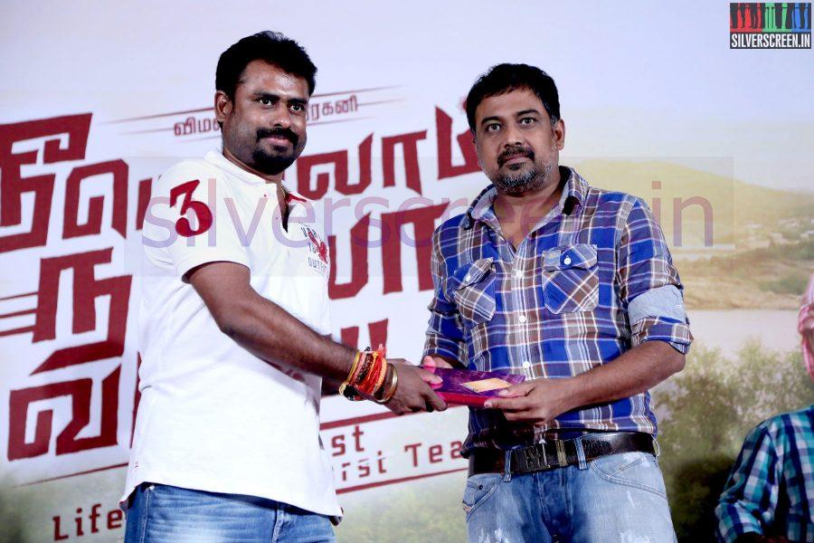 Director R Nagendran and N Lingusamy at Nee Yellam Nalla Varuvada Press Meet