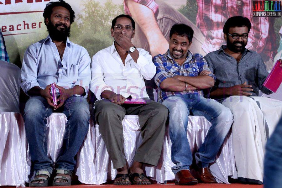 Director R Nagendran, N Lingusamy, Vetrimaaran and Karu Pazhaniappan at Nee Yellam Nalla Varuvada Press Meet