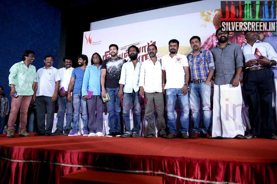 Director R Nagendran, N Lingusamy, Vetrimaaran, Karu Pazhaniappan, Actor Vimal (Or Vemal), Jayam Ravi, Actress Punnagai Poo Gheetha at Nee Yellam Nalla Varuvada Press Meet