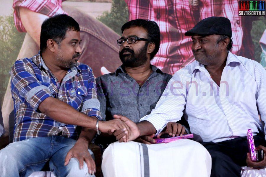 Director N Lingusamy, Karu Pazhaniappan and Actor MS Bhaskar at Nee Yellam Nalla Varuvada Press Meet