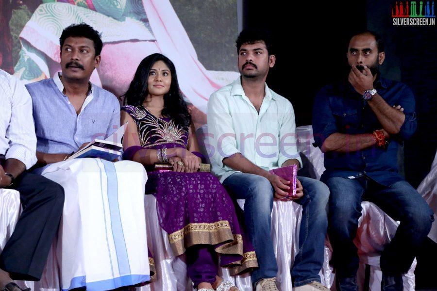 Director Samuthirakani, Actor Vimal (Or Vemal) and Actress Punnagai Poo Gheetha at Nee Yellam Nalla Varuvada Press Meet
