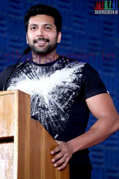 Actor Jayam Ravi at Nee Yellam Nalla Varuvada Press Meet