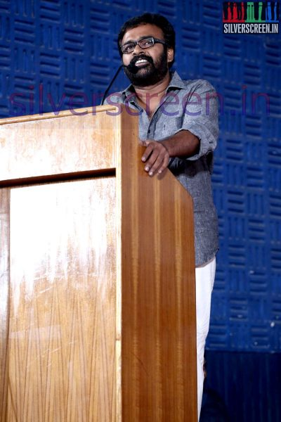 Director Karu Pazhaniappan at Nee Yellam Nalla Varuvada Press Meet