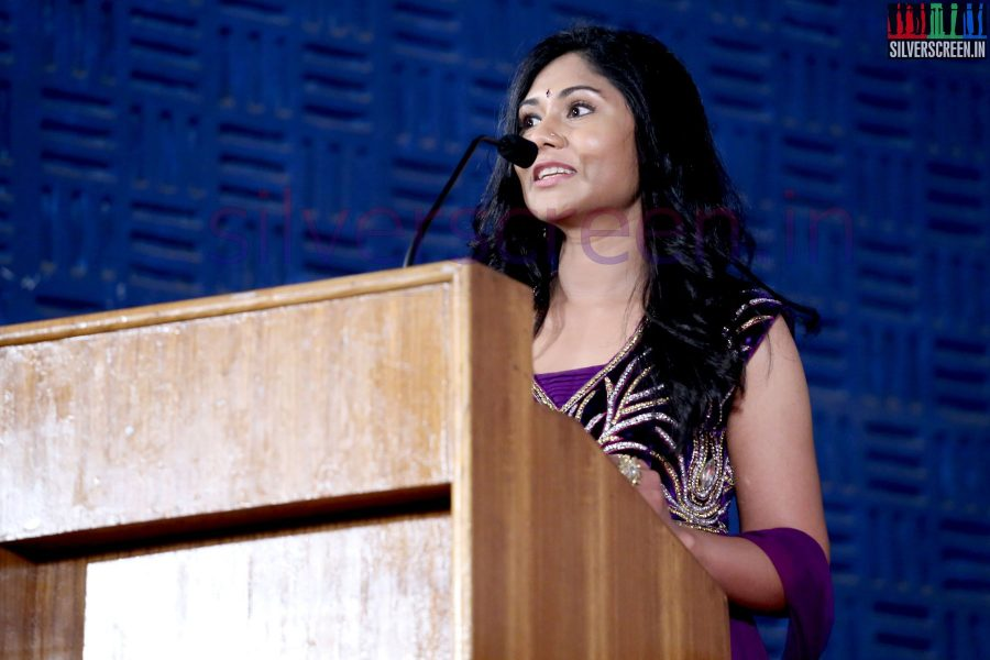 Actress Punnagi Poo Gheetha at Nee Yellam Nalla Varuvada Press Meet