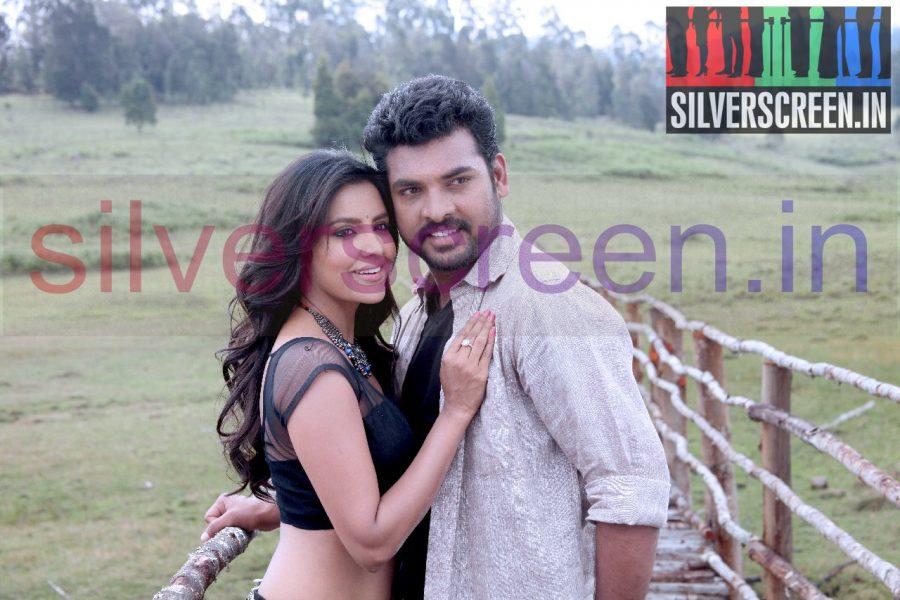 Actor Vimal (Or Vemal) and Actress Priya Anand in Oru Oorla rendu Raja Movie Stills