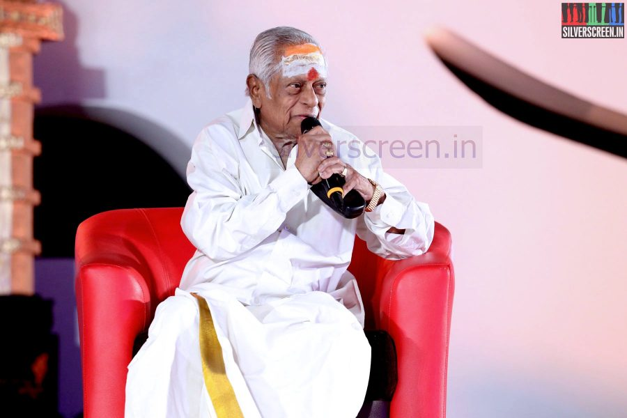 Music Director M S Viswanathan at the Puthiyathalaimurai (Puthiya Thalaimurai) Tamizhan Awards 2014