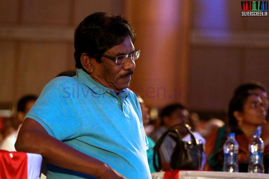 Director P Bharathiraja at the Puthiyathalaimurai (Puthiya Thalaimurai) Tamizhan Awards 2014