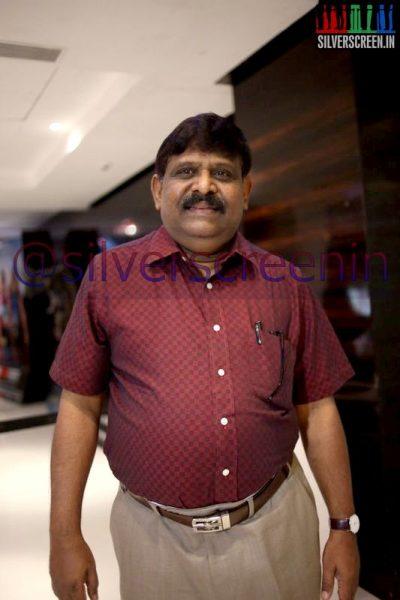 Director Gnana Rajasekaran at Ramanujan Movie Premiere