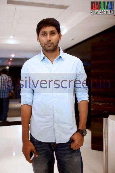 Actor Aadhav Kannadasan at Ramanujan Movie Premiere