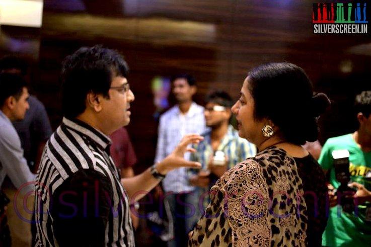Actor Vivek and Suhasini Mani Ratnam at Ramanujan Movie Premiere