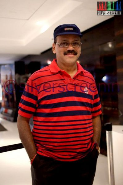 Producer G Dhananjayan at Ramanujan Movie Premiere