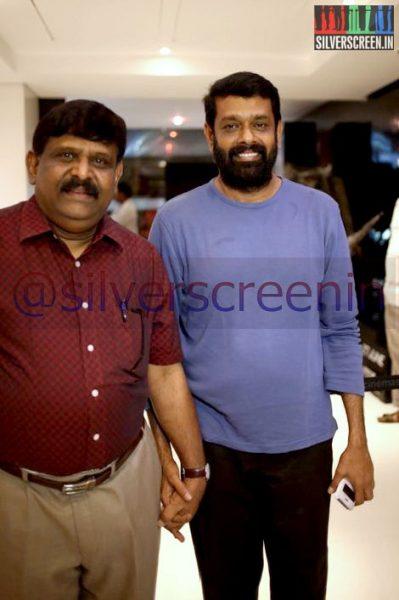 Director Gnana Rajasekaran and Vasanth at Ramanujan Movie Premiere