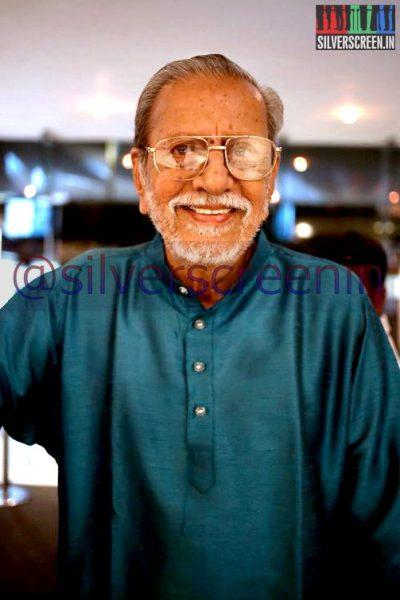 Actor Charuhasan at Ramanujan Movie Premiere