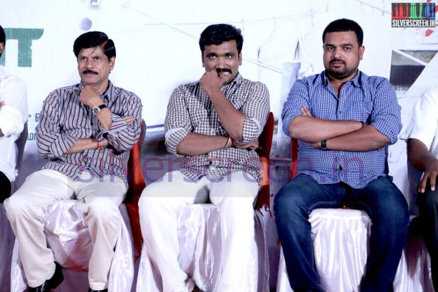 Producer V Swaminathan at Serndhu Polama Audio Launch Event