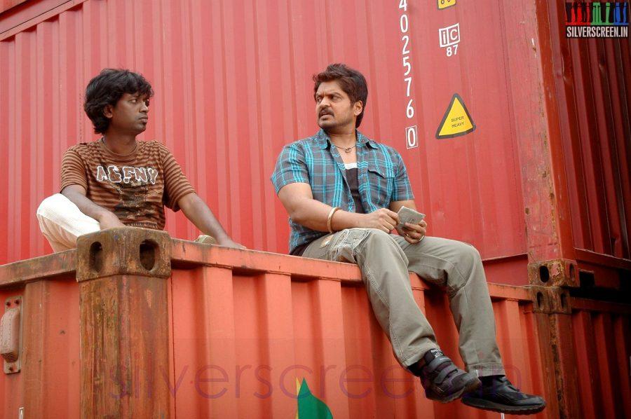 Actor Karan and Jagan in Sooran Movie Stills