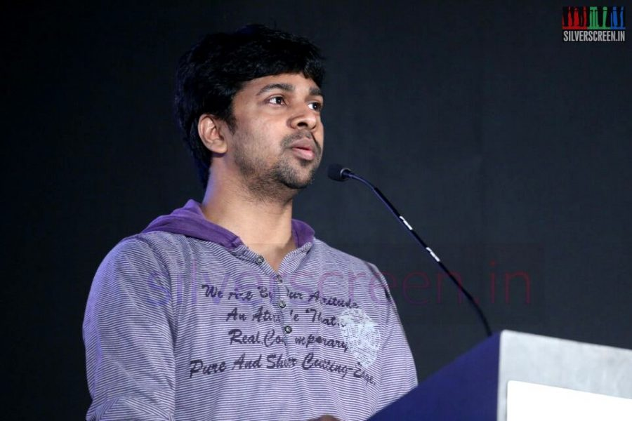 Lyricist Madhan Karky at Thottal Thodarum Audio Launch Function