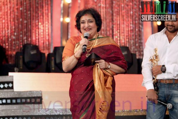 Actress Latha Rajinikanth at Vijay Awards 2014 Event