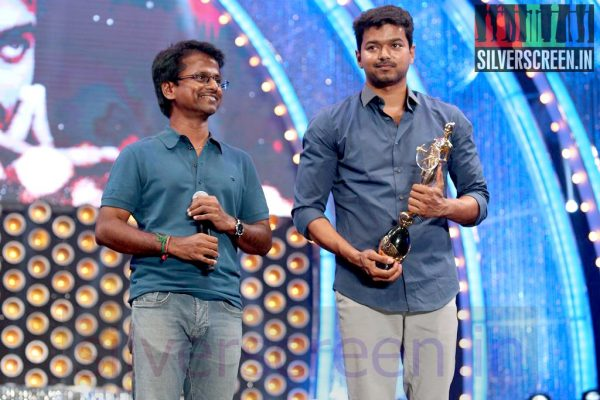 Director AR Murugadoss and Actor Vijay at Vijay Awards 2014 Event