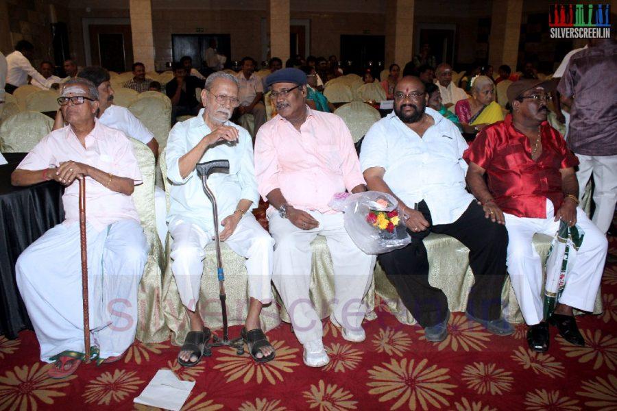 Actor Charuhasan, Santhana Bharathi and TP Gajendran in Director RC Sakthi Birthday Celebration Stills